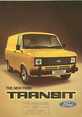 The New FORD TRANSIT SALES BROCHURE Mar 1978