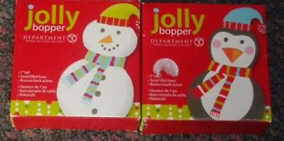 "DEPARTMENT 56 JOLLY BOPPER 7"" INFLATABLE PENGUIN WITH SANFILLED BASE 2 each"