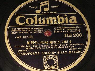 BILLY MAYERL Nippy Parts 1&2 COLUMBIA 78rpm