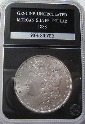 1888 silver Morgan dollar coin mint state  (#1021d)