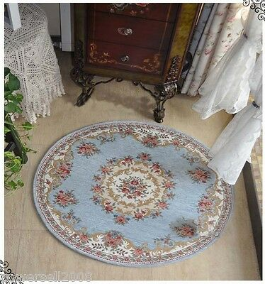 European Mediterranean Round Carpet Bedroom Machine Washable Carpet 100CM 4 PCS