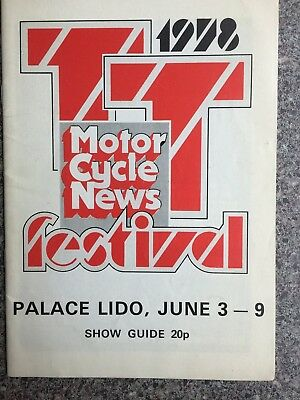 TT Festival show guide programme Palace Lido Isle of Man 1978 Grass Track intere