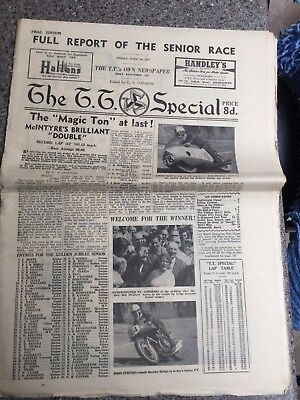 The TT Special newspaper 7th June 1957 Isle of Man