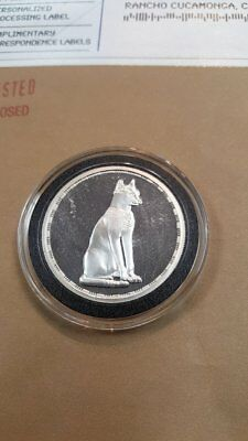 RARE Egypt 5 Pounds 1994 Goddess Bastet Silver Proof , Ancient Egyptian Treasure