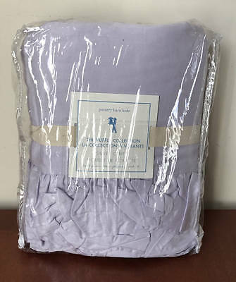 New~Pottery Barn Kids The Ruffle Collection Duvet Cover~Full/Queen~Lavender