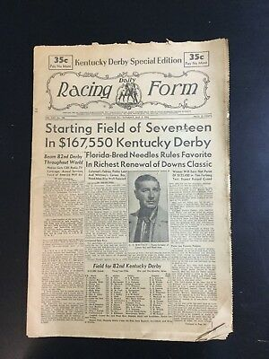 1956 Daily Racing Form Kentucky Derby Needles