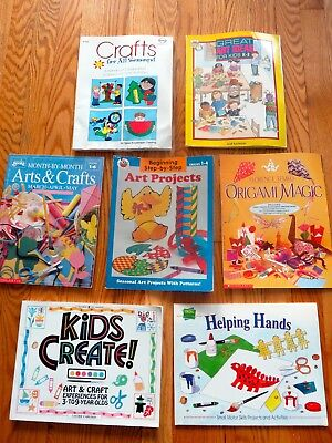 Lot of 7 Teacher resource art and craft books for primary grades