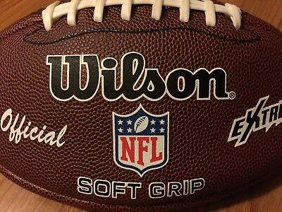 Wilson NFL Extreme US American Football Official Size Soft Grip Sports Ball