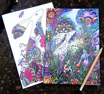 Two beautiful Hare sketchbooks blank notebooks Pagan Medieval Wicca drawing