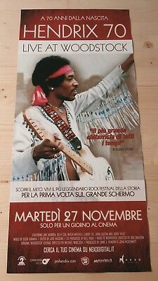 HENDRIX 70 LIVE AT WOODSTOCK Original Concert Event Poster 33x70/12x27