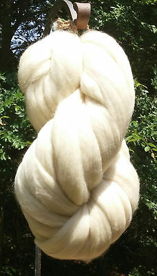 1 lb POUND Natural White Wool Top Roving Fiber Spin, Felt Crafts HIGH QUALITY !!