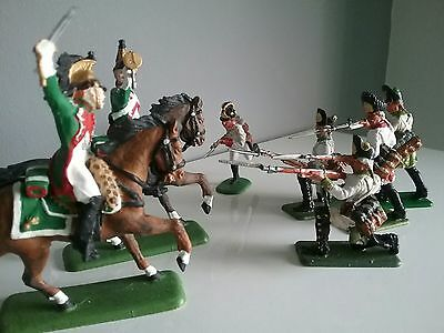 French dragoons and Austrian infantry line toy soldiers by ITALERI made in Italy