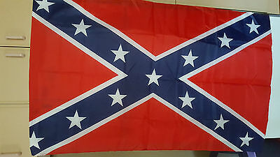 Large 5ftX 3ft  Red And Star Flag for Southern Gentleman or REBEL New in Packet