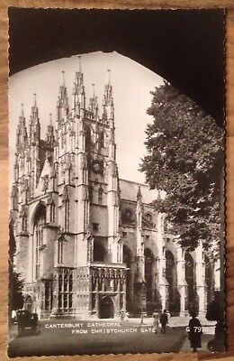 Postcard,B&W,Canterbury Cathedral from Christchurch Gate,Valentine's