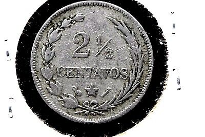 DOMINICAN REPUBLIC 1888-A 2 1/2 CENTAVOS (LARGE DATE) COPPER-NICKEL 18mm.