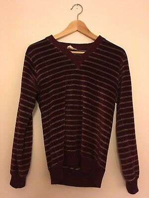 Vintage 70's Sweater - Maroon Stripes