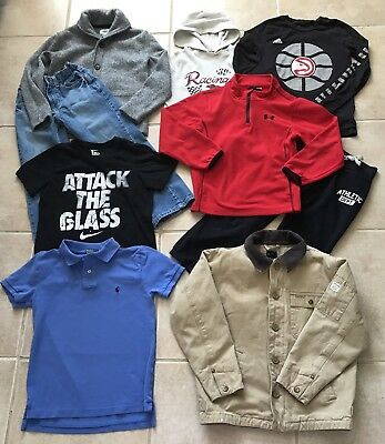 Lot of Boys Clothes Shirts Jeans Pants Jacket Sweatshirt School Winter Size 7 8