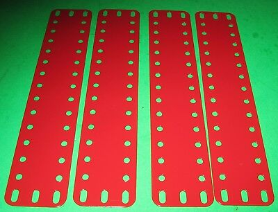 "MECCANO COMPATIBLE METALLUS PARTS FLEXIBLE PLATES 7-1/2"" x 1-1/2"""