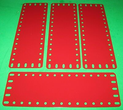 "MECCANO COMPATIBLE METALLUS PARTS FLEXIBLE PLATES 7-1/2"" x 2-1/2"""