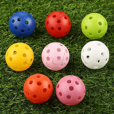 Indoor Outdoor Light Hollow Perforated Design Plastic Golf Balls Durable Use