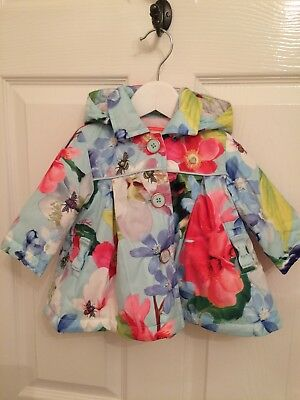 BNWT Ted Baker Hooded Baby Girls Coat 0-3 Months - Gorgeous!