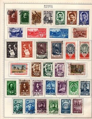 Russia 1948 - 1954 Collection from Stuffed Minkus Album