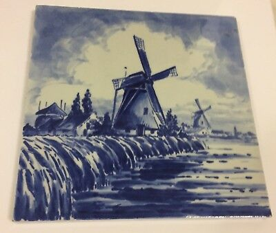 PORCELEYNE FLES Delft Tile Made in Holland - Gimbels - Windmills
