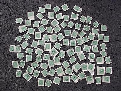 KGV 1 1/2d Green On Piece. Bulk Lot Of 100. Victoria Postmarks.