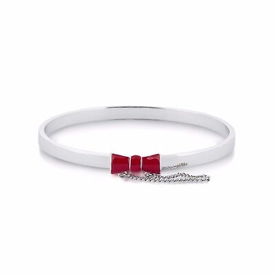 Disney Couture Sale! Minnie Mouse Red Bow Bangle White Gold Plated RRP $59