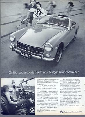 1973 MG Midget Roadster Sports Economy Car British Magazine Vintage Print Ad 70s