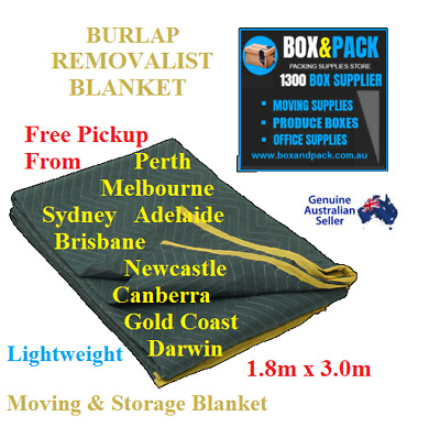 10 x Furniture Protection Removalist Pads Moving Blankets Burlap Padded Blanket