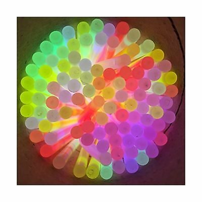 "8"" Glow Stick Bracelets (tube of 100 assorted) New"