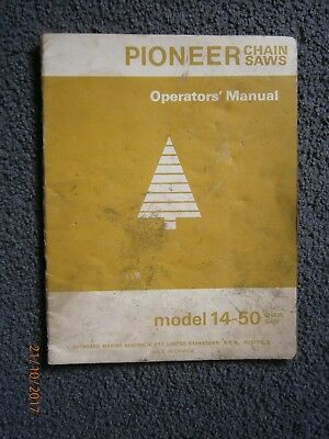 Pioneer 14-50 Chainsaw Instruction Manual