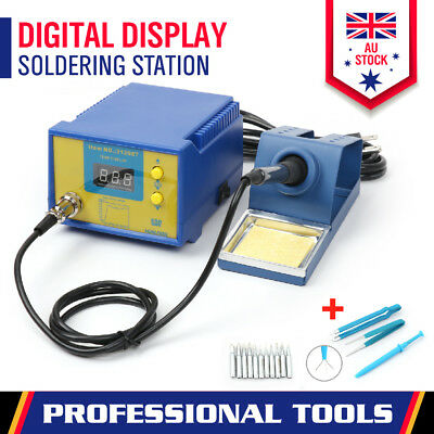 New Electric Soldering Iron ESD Safe Solder Station 11 Tip Lead Welding Kit 60W