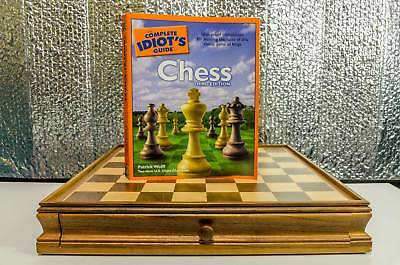 Chess and Checkers set with 'Complete idiots Guide to Chess'