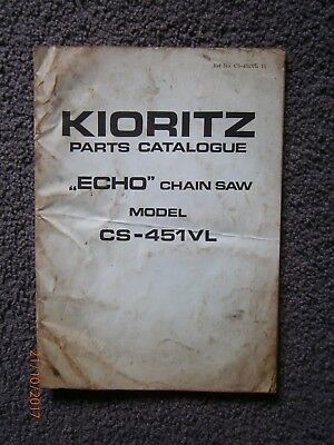 "KIORITZ ""Echo"" CS-451VL Chainsaw Parts Catalogue"