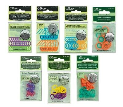 Clover Knitting Ring Markers for Stitch Counting SELECT YOUR DESIGN!