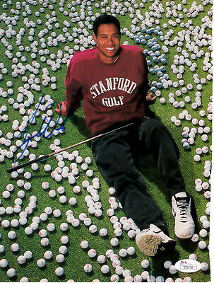 Tiger Woods autographed signed auto 1995 Stanford Golf SI magazine photo JSA LOA