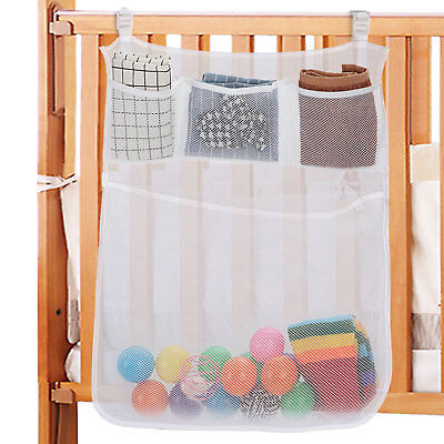 Crib Bedside Caddy Hanging Nursery Organizer Baby Diapers Clothing Wipes Storage