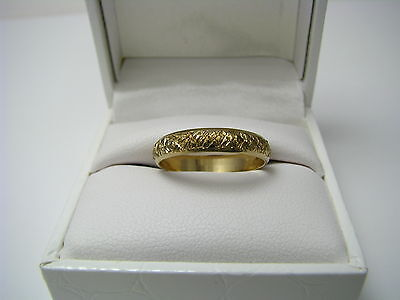 VINTAGE 10K GOLD FILLED RING WEDDING BAND by LEGI ca1950s New Jewelry Gift Box