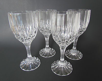 Cristal D`Arques Bretagne Wine Glass Set Of (4) 6 1/2 Inch