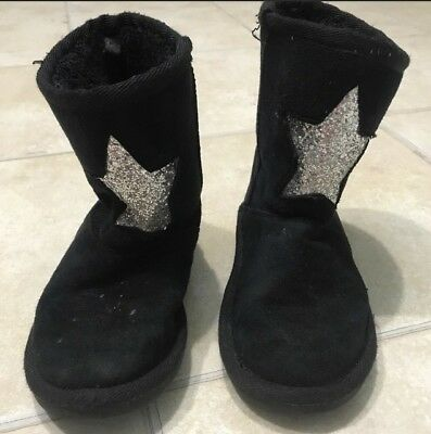 Girl's Size 12 The Childrens Place Above Ankle Black Boots