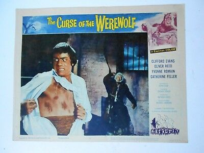 Curse of the Werewolf lobby card #6 Hammer horror Oliver Reed Universal monsters