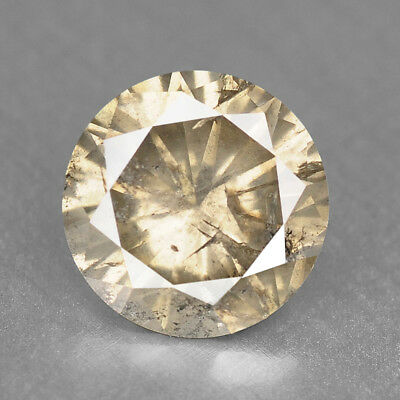 Fancy Yellow Diamond 1.23 cts Round Loose Diamond Fancy Natural F726