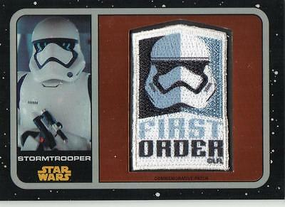 STAR WARS THE FORCE AWAKENS Chrome Patch Card P-10 Stormtrooper #230/401 Retail