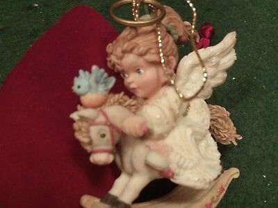 "Heirloom Ornaments from Aston Drake "" rocking horse angel"""