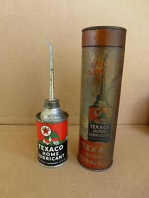 Very Nice Texaco Handy Oil Tin With The Original Packaging Tube