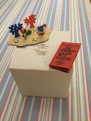 Magic Roundabout Sugarlump Studios Scene 2 Ermintrude & Zebedee Rare Signed