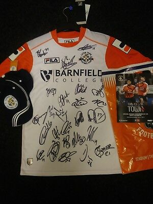 Signed Luton Town Shirt. Youths XL. Brand New Signed by the NEW 2017/18 Squad