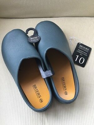 BNWT Briers Traditional Green Men's Gardening Clogs Size 10